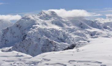 The big glacier of Nevado Chumpe (Jatunriti) in the Vilcanota range