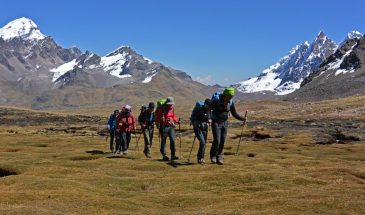 Hikers on the Vilcanota Circuit Trek with Sky High Andes