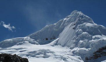 Mount Tocllaraju, a classic climb of the Cordillera Blanca, Peru