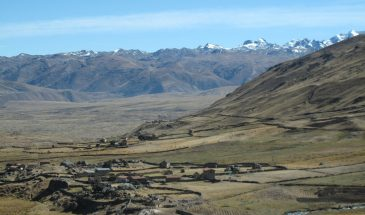 Village of Pacchanta below the mountains