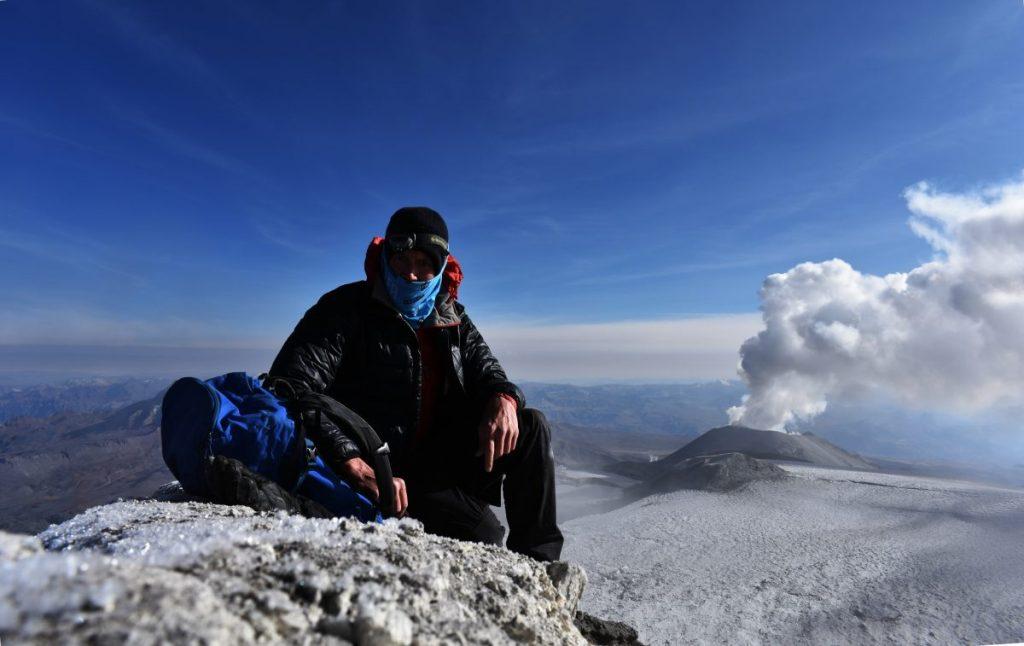 Summit of Ampato 6,288m, Cordillera Volcanica, Arequipa, Peru.